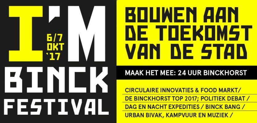 IM BINCK festival 2017 Stadsmakers Circulaire economie Pakhuis de Regah Pakhuis de Zwijger in Den Haag